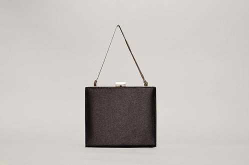 Black satin bag