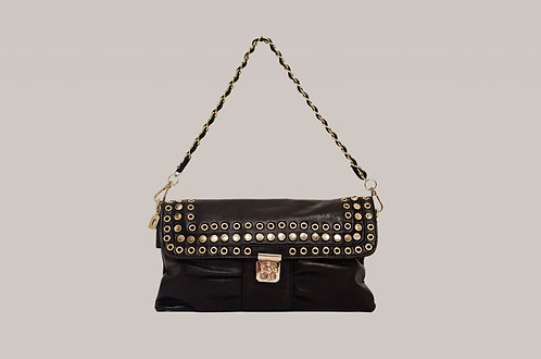 Black and gold twist lock bag
