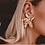 Thumbnail: Gorgeous gold flower earrings