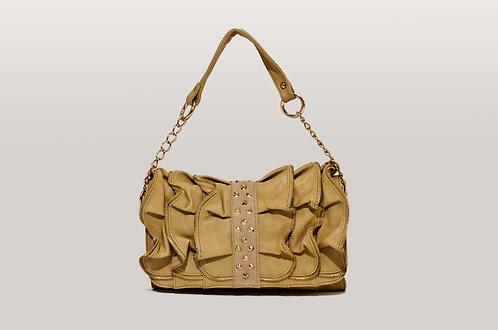 Ruffle shoulder bag