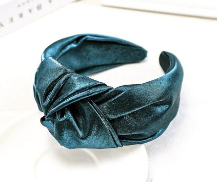 Large green shimmery headband