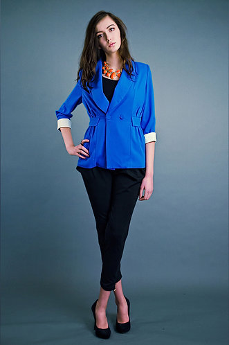 70′s style blue blazer