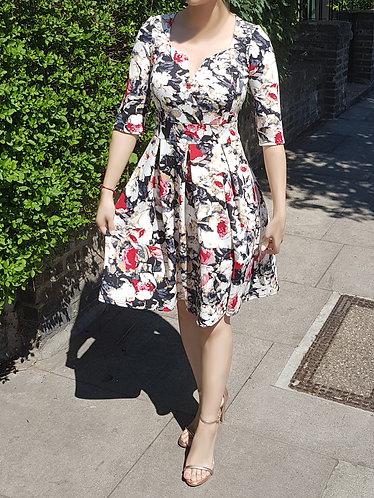 Olivia long sleeve skater dress