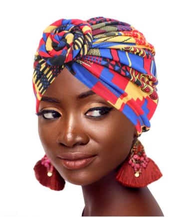 Multicoloured fashion turban