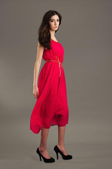 Pink Grecian style dress