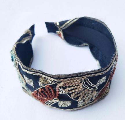 Gorgeous embroidered headband