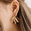 Thumbnail: Triple hoop gold earrings