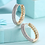 Thumbnail: Medium sized diamonte hoops