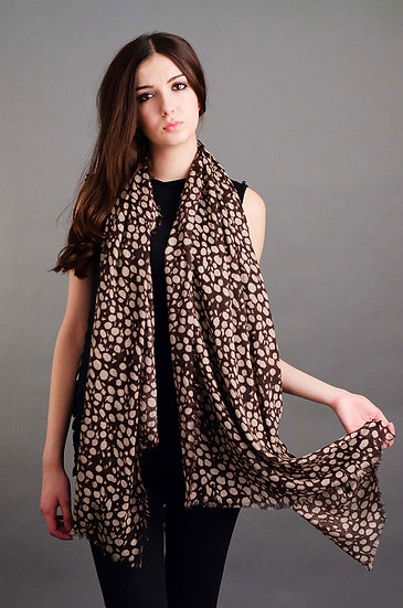 Large brown leopard spot scarf