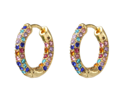 Small multicoloured stone hoops