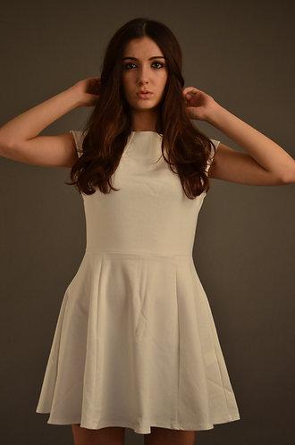 White elegant skater dress