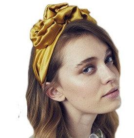 Mustard rose headband