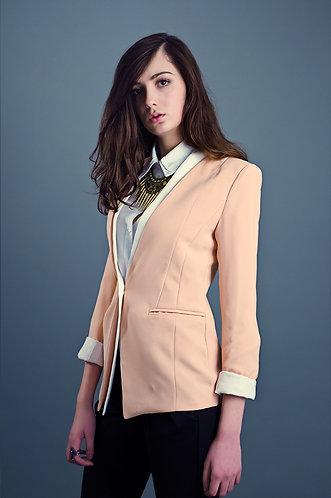Peach blazer fitted blazer