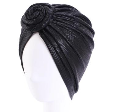 Black shimmer turban