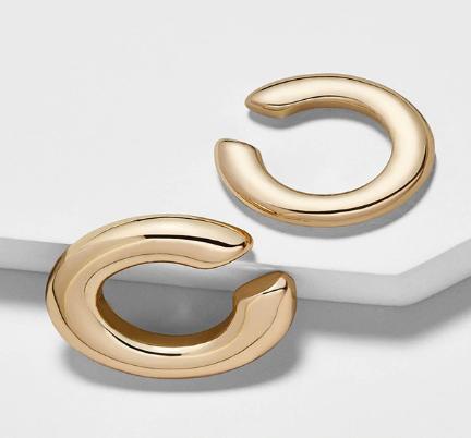 Gold ear cuff earrings
