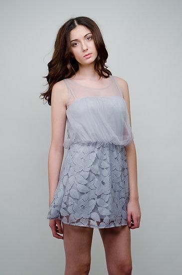Delicate violet leaf detailed dress