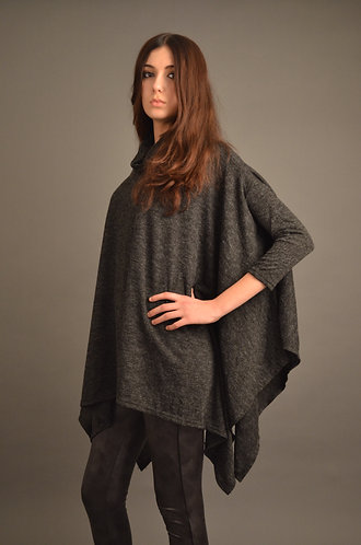 Oversized top with roll neck