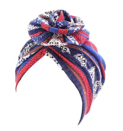 Gorgeous blue print turban