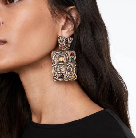 Gorgeous multi-colored dangle earrings