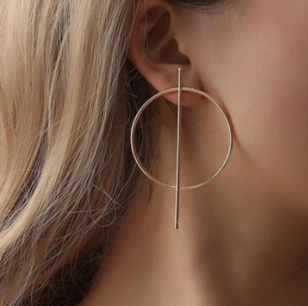 Gorgeous minimalist gold tone earrings