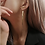 Thumbnail: Long gold tassel earrings