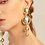 Thumbnail: Gold ball dangle earrings