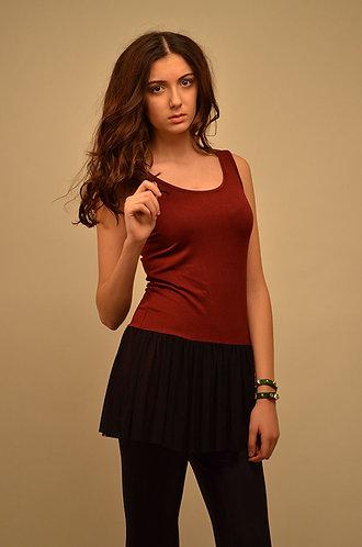 Black and maroon skater dress