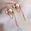 Thumbnail: Double ball pearl dangle earrings