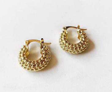 Gorgeous mini gold hoops