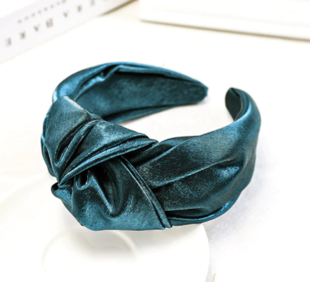 Shimmery green headband