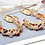 Thumbnail: Gold hoops with multi-coloured stones