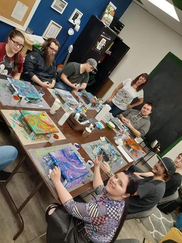Atelier de peinture art abstrait ISA artiste peintre