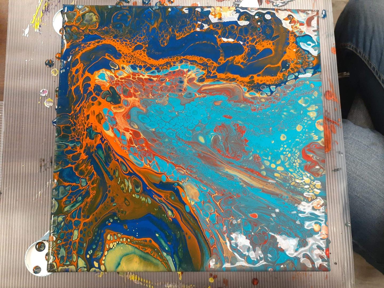 Atelier de peinture art abstrait