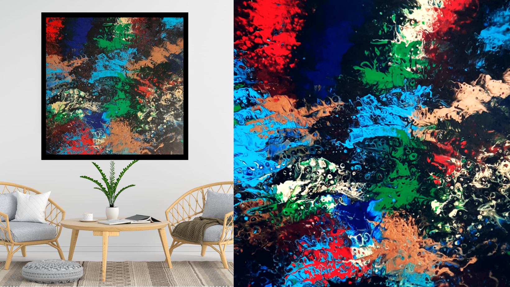 Art abstrait contemporain - Isa artiste peintre