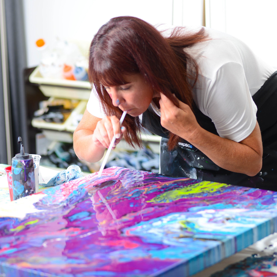 ISA artiste peintre , Art abstrait contemporain