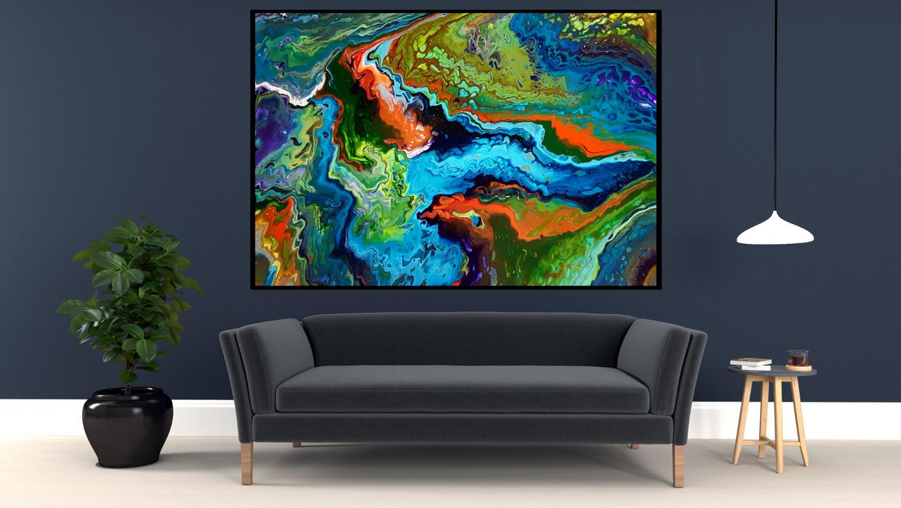 Art abstrait contemporain - Isa artiste peintre
