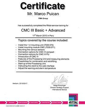 FMA Servicios Industriales CMC II RITTAL Certificado
