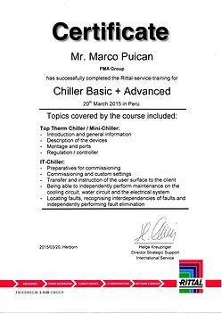 FMA Certificado Chiller RITTAL Climatizador