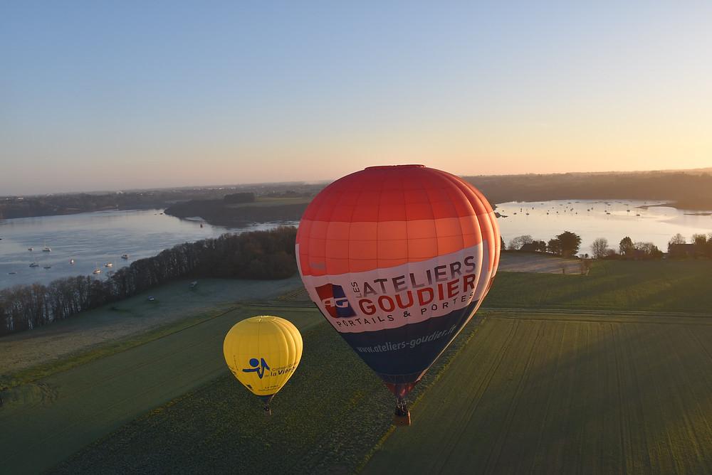 Baptême de l'air en montgolfière proposé par Altitude 22 à Dinan