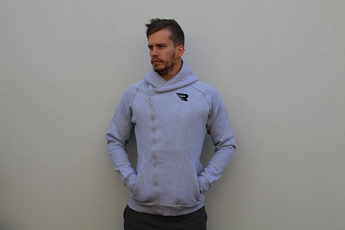 Signature Zip Up Hoodie (Grey)