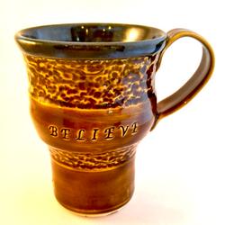 Brown Believe Mug