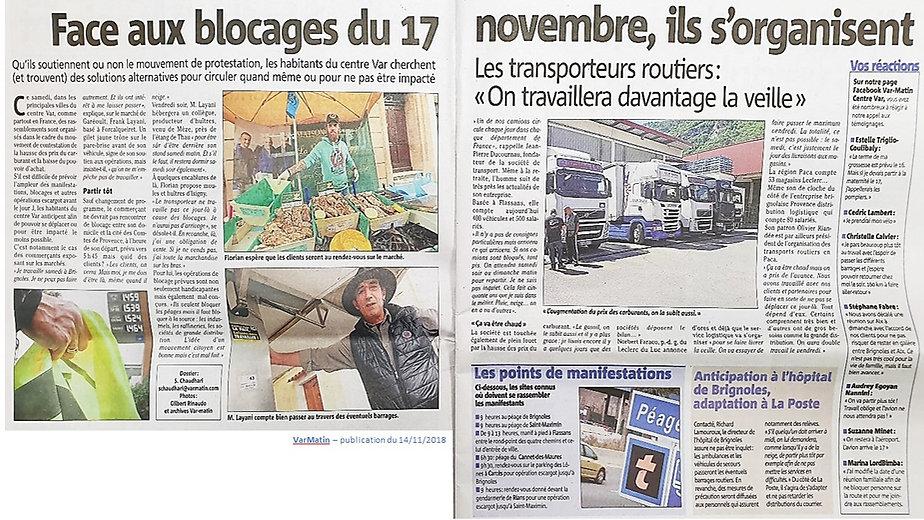 VM - face aux blocages du 17 novembre, i