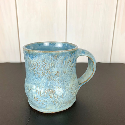 Mug fat bottom sunflower blue