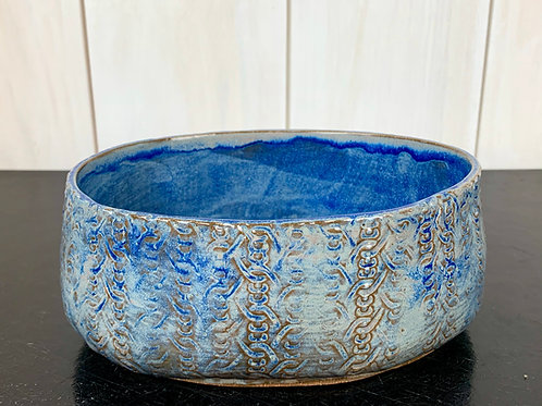 Bowl - Oval with a faded denim glaze, great for side dishes.