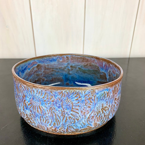 Bowl - sunfloweroval serving bowl