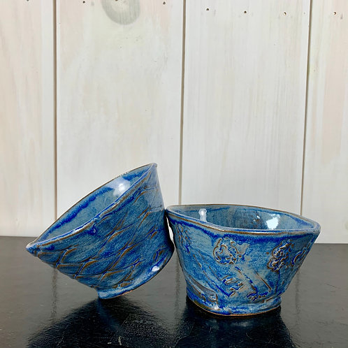 Bowl - Funky triangular, perfect for soup/salad (set of 2)