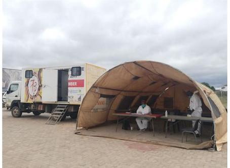 Mutorwa berei bloudruk vir vervoer voor