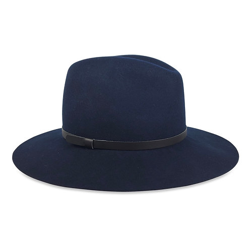 Hatattack Madison with Narrow Leather Trim Hat