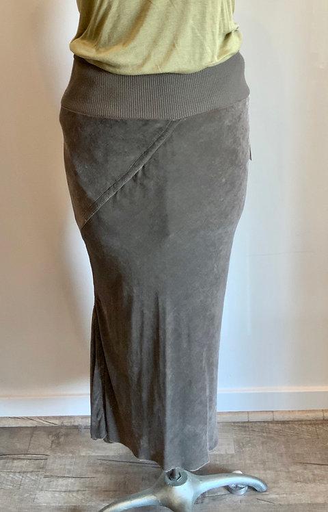Rick Owens Knit Velvet Skirt