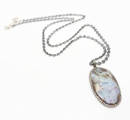 Robindira Unsworth Boulder Opal Necklace